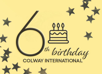 We are celebrating 6th birthday of Colway International!